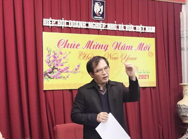 TS. Tô Hoài Nam – Phó chủ tịch Thường trực kiêm Tổng thư ký VINASME phát biểu tại buổi gặp gỡ