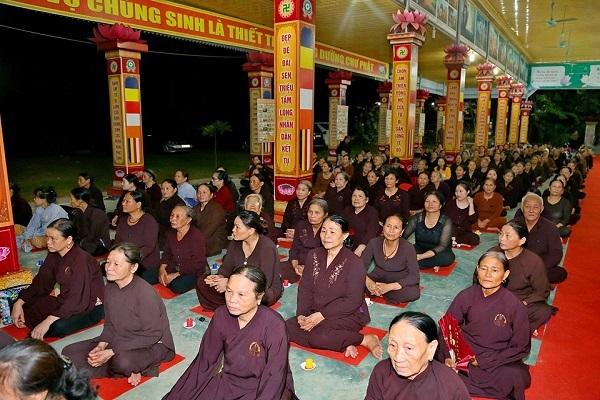 Buổi lễ cầu an tại chùa Khải Nam