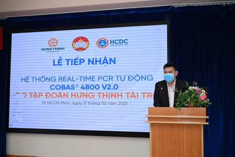 ông Nguyễn Nam Hiền – Phó TGĐ Tập đoàn Hưng Thịnh, chia sẻ tại buổi lễ trao tặng