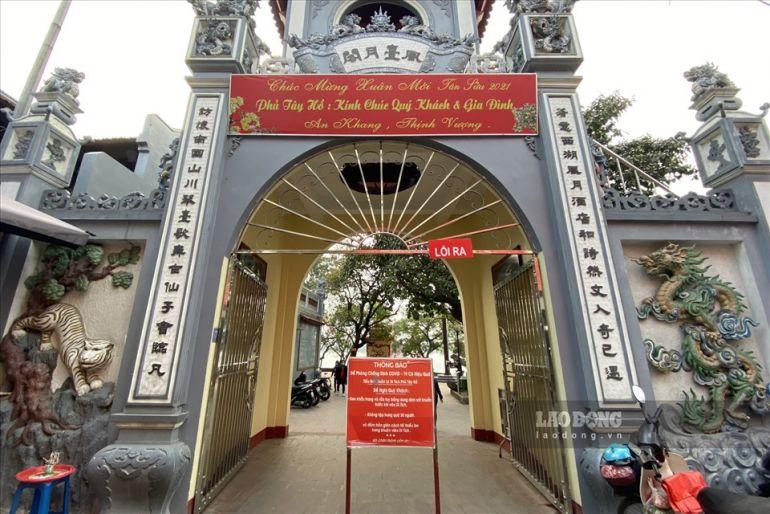 Các cơ sở Di tích, đền chùa tại Hà Nội đóng cửa ngày đầu xuân để phòng dịch Covid-19