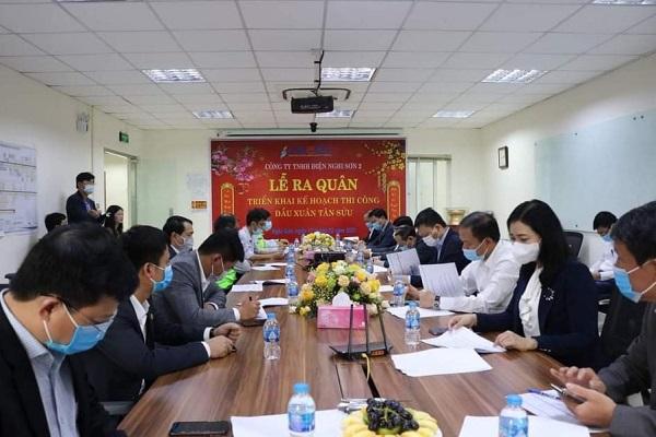 Lễ ra quân triển khai kế hoạch đầu năm Tân Sửu tại Công ty TNHH Điện Nghi Sơn 2