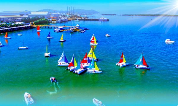 Toàn cảnh bến thuyền Marina tại KCN Đông Xuyên, tỉnh Bà Rịa - Vũng Tàu