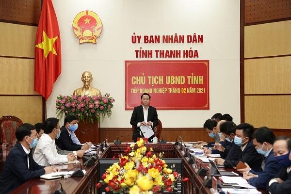 Ông Đỗ Minh Tuấn, Chủ tịch UBND tỉnh trả lời các đề xuất, kiến nghị của doanh nghiệp