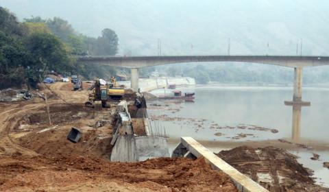 Bảo Yên - Lào Cai: Dự án kè Bảo Hà phấn đấu hoàn thành vượt tiến độ
