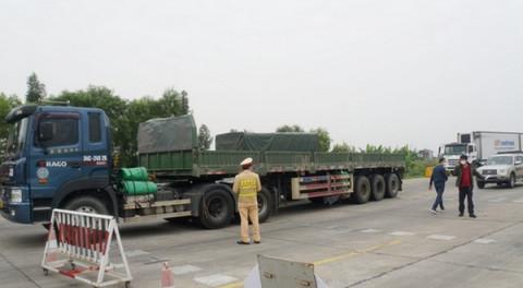 Các phương tiện vận chuyển hàng hóa tỉnh Hải Dương đi Hải Phòng đã được tháo gỡ