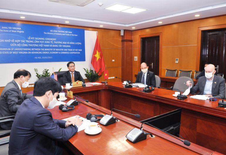 Việt Nam và Bang Tây Virginia, Hoa Kỳ hợp tác trong lĩnh vực kinh tế, thương mại và năng lượng