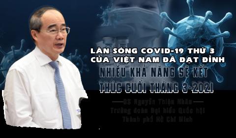 """""""Làn sóng Covid-19 thứ 3 của Việt Nam đã đạt đỉnh, nhiều khả năng sẽ kết thúc cuối tháng 3-2021"""""""