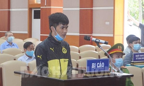 Bị cáo Vũ Văn Tập tại phiên xét xử sơ thẩm ngày 24/2
