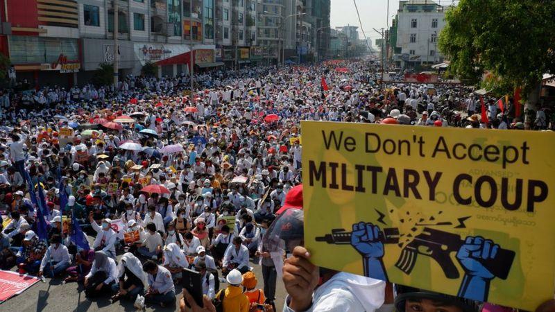 Myanmar chìm trong hỗn loạn kể từ sau vụ đảo chính hôm 1/2.