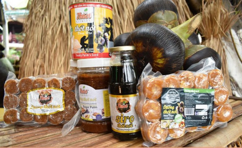 An Giang: Đa dạng các sản phẩm từ cây thốt nốt