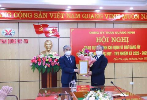 Ông Trần Mạnh Cường giữ chức Bí thư Đảng ủy Công ty Than Dương Huy