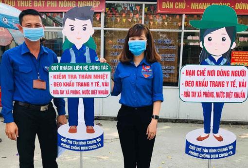 Phường đoàn Tân Bình (TP.Dĩ An) thực hiện tuyên truyền phòng, chống dịch bệnh Covid-19