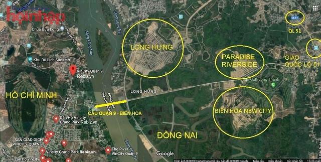 Cầu Đồng Nai kết nối Quận 9 - Biên Hòa với sân bay Long Thành