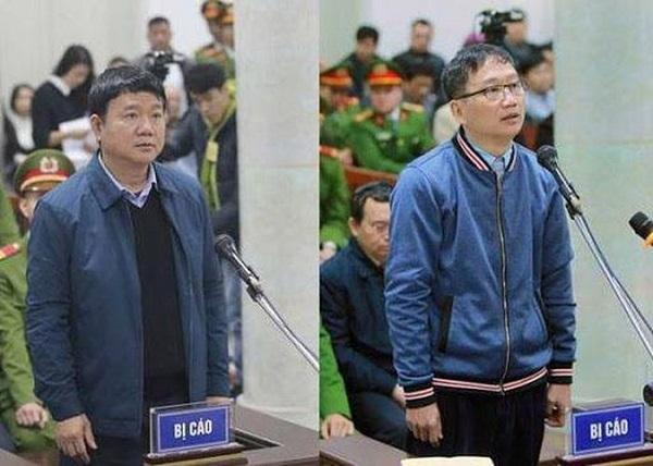 Từ trái sang phải: Cựu Bộ trưởng Đinh La Thăng và Trịnh Xuân Thanh