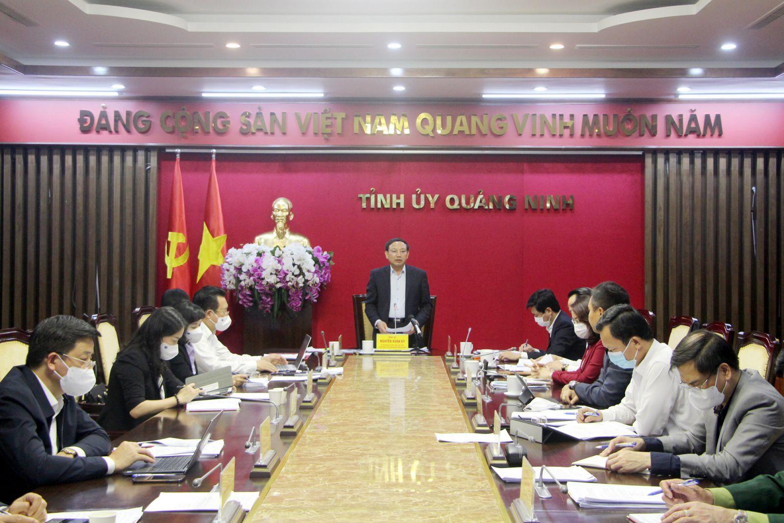 Ông Nguyễn Xuân Ký, Bí thư Tỉnh ủy Quảng Ninh kết luận buổi làm việc.