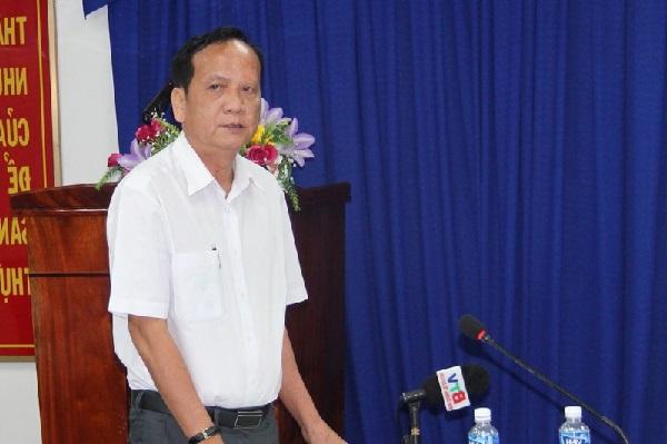 Ông Lê Văn Trang - nguyên Cục trưởng Cục Thuế tỉnh Bình Dương khi còn đương chức