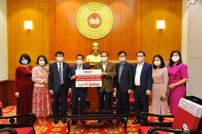 HDBank hỗ trợ tỉnh Hải Dương 1,5 tỷ đồng phòng chống dịch Covid- 19