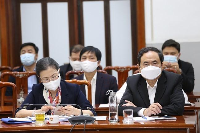 Ông Trần Thanh Mẫn, Ủy viên Bộ Chính trị, Chủ tịch UBTƯ MTTQ Việt Nam, Phó Chủ tịch Hội đồng bầu cử Quốc gia tham dự Hội nghị.