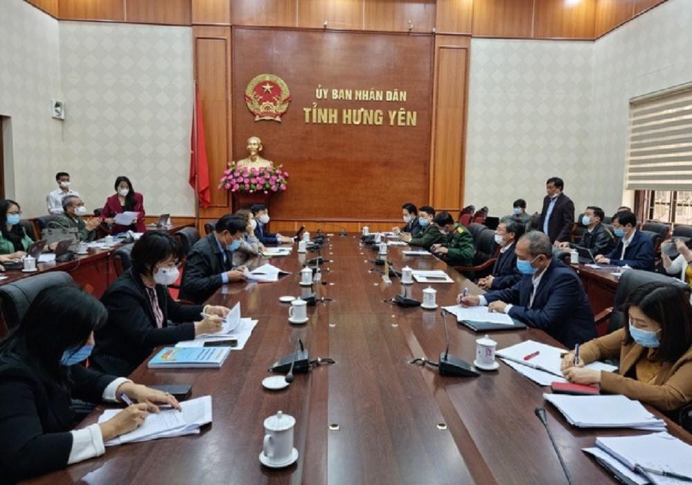 Ban Chỉ đạo Quốc gia phòng chống dịch Covid-19 do Thứ trưởng Bộ Y tế Đỗ Xuân Tuyên làm Trưởng đoàn đã có buổi làm việc với UBND tỉnh Hưng Yên và một số cơ sở sản xuất kinh doanh, các cụm, khu công nghiệp trên địa bàn tỉnh.