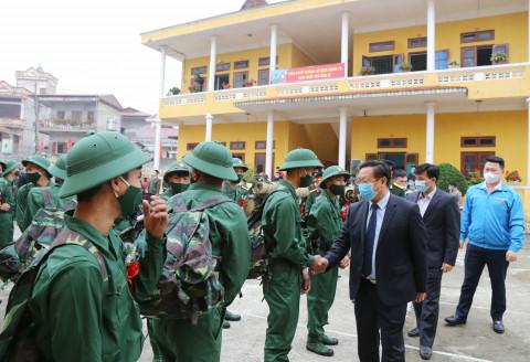 Lào Cai: tưng bừng tổ chức Lễ giao, nhận quân năm 2021