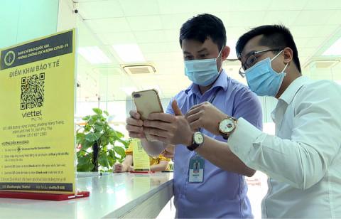 Ngành y tế Phú Thọ triển khai ứng dụng khai báo điện tử qua mã QR-Code