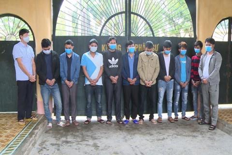 Công an tỉnh Thanh Hóa: Bắt quả tang 11 đối tượng tổ chức đánh bạc sát phạt nhau