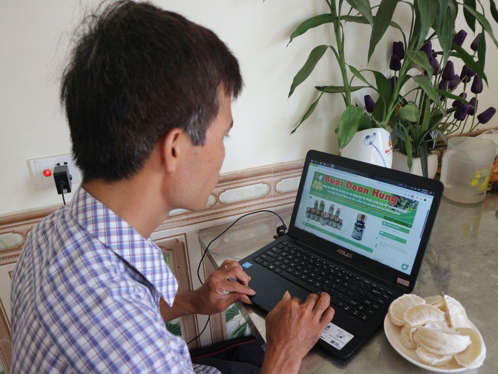 Trang Web của HTX Công nghệ cao Đoan Hùng, giúp người tiêu dùng dễ dàng kiểm tra nguồn gốc, hồ sơ pháp lý của sản phẩm