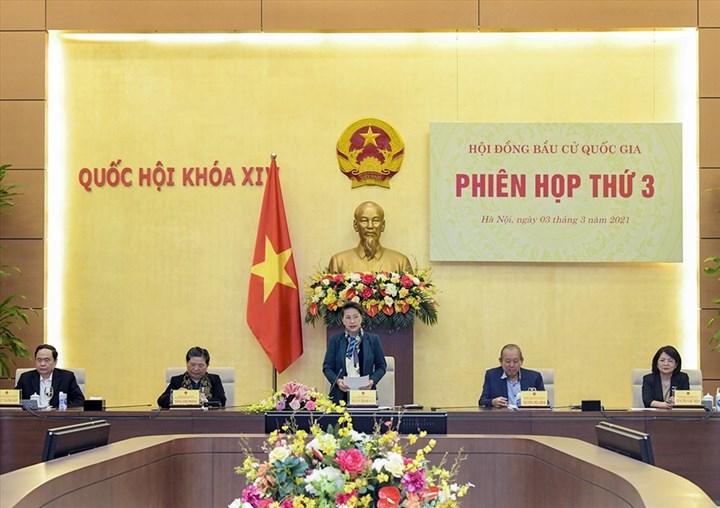 Chủ tịch Quốc hội Nguyễn Thị Kim Ngân phát biểu kết luận Phiên họp. Ảnh: quochoi.vn