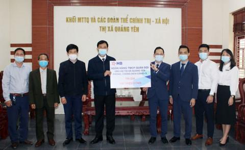 Quảng Yên: Ngân hàng TMCP Quân Đội ủng hộ 100 triệu đồng cho công tác phòng, chống dịch