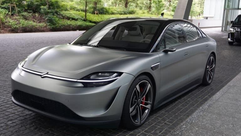 Mẫu xe ý tưởng Vision-S của Sony đã thu hút sự chú ý toàn cầu trong triển lãm thương mại CES 2021.