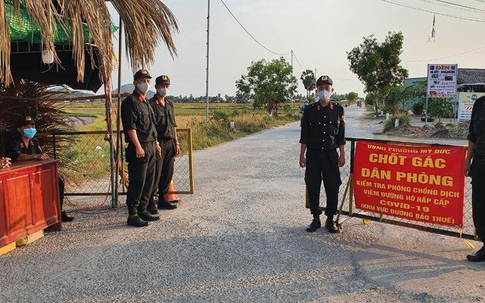 Chốt gác phòng chống dịch tuyến biên giới Hà Tiên