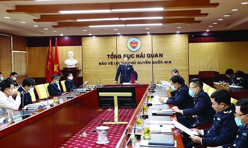 Tổng cục Hải quan tổ chức Hội nghị giao ban đánh giá công tác 2 tháng đầu năm và tiếp tục đẩy mạnh công tác đấu tranh với vi phạm xuất xứ hàng hóa.