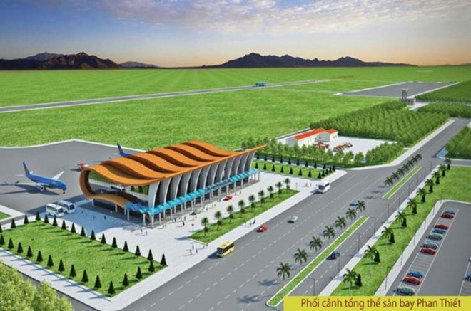Phối cảnh sân bay Phan Thiết (Bình Thuận)