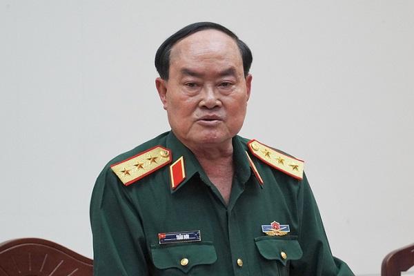 Thượng tướng Trần Đơn - Thứ trưởng Bộ Quốc phòng, tại buổi làm việc với UBND Bình Thuận chiều ngày 5/3. (Ảnh: Việt Quốc)