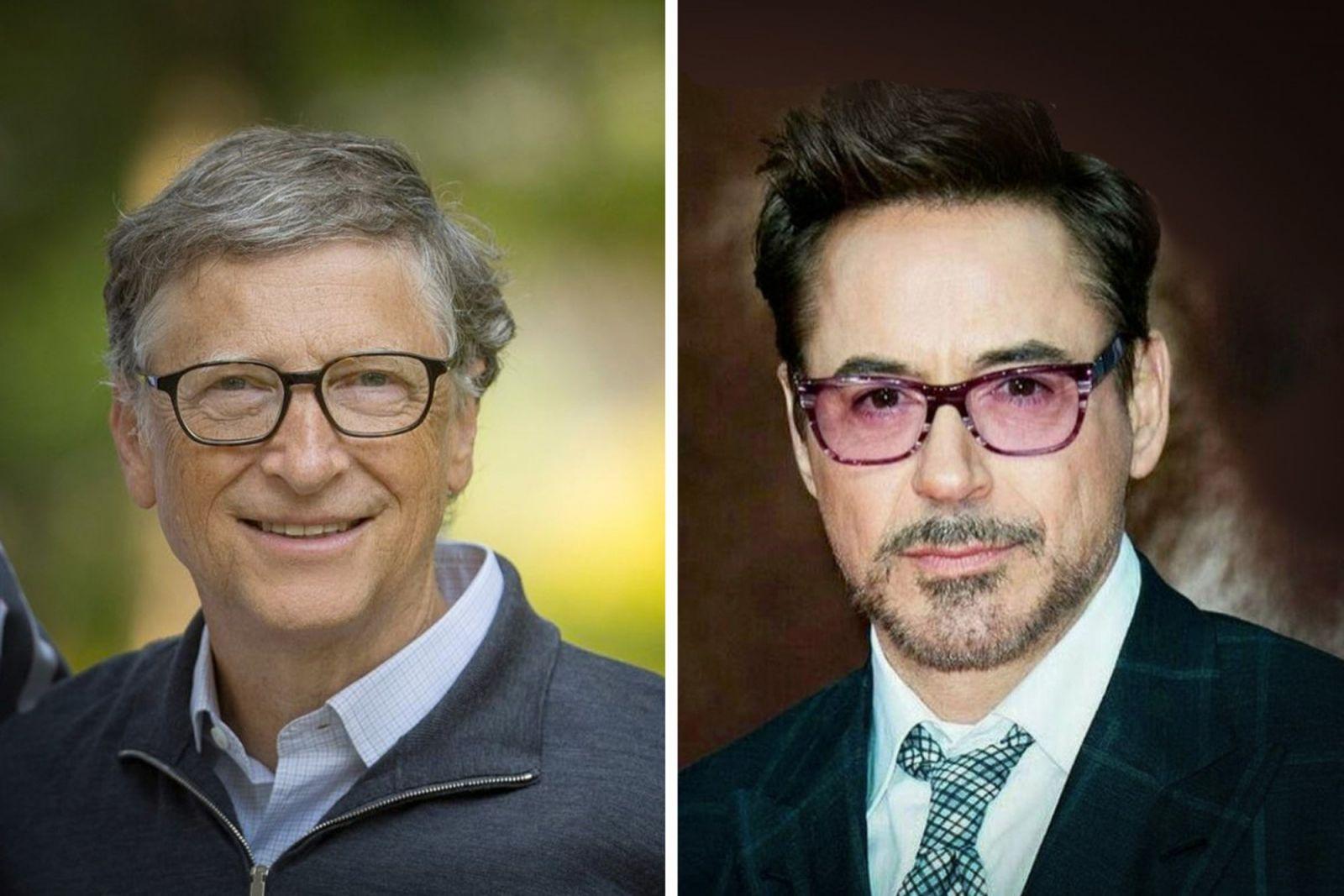 Bill Gates (trái) và