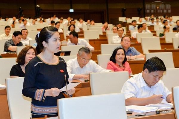 Bà Ksor H'Bơ Khắp là một trong những nữ ĐBQH khóa XIV được nhiều cử tri biết đến với những phát ngôn, tranh luận thẳng thắn, ấn tượng./ Ảnh vietnamnet