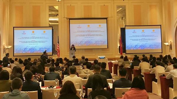 Hội thảo chia sẻ kinh nghiệm quốc tế về chống gian lận xuất xứ, chuyển tải bất hợp pháp và lẩn tránh các biện pháp phòng vệ thương mại do Bộ Tài chính (Tổng cục Hải quan), Bộ Công Thương và Cơ quan Phát triển Quốc tế Hoa Kỳ tại Việt Nam (USAID Việt Nam) phối hợp tổ chức