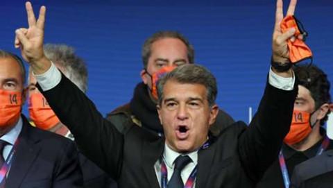 Joan Laporta trở lại chiếc ghế Chủ tịch Barcelona