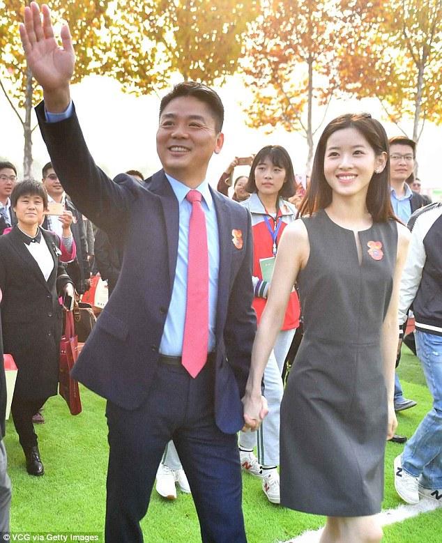 ông chủ Jingdong Liu Qiangdong và vợ ZhangZeTian