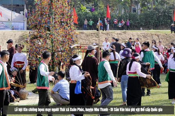 Thanh Hóa: Độc đáo lễ tục Kin Chiêng Boọc Mạy của người Thái