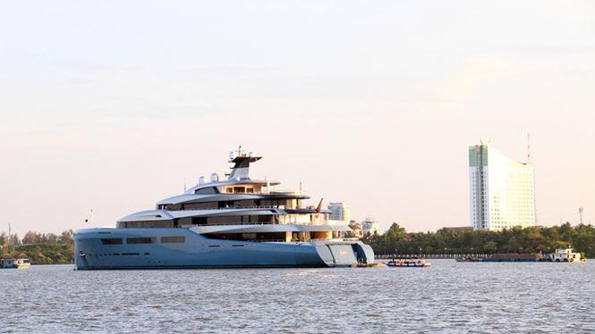 Siêu du thuyền Aviva từng neo đậu trên sông Cần Thơ 2 ngày vào năm 2019