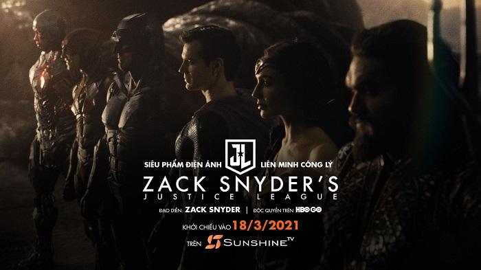 Khán giả Việt Nam sẽ được xem Justice League của Zack Snyder cùng giờ với Mỹ trên Sunshine TV
