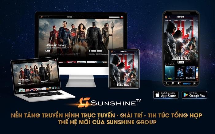 Tải ứng dụng Sunshine TV trên App Store hoặc Google Play về điện thoại hoặc truy cập website www.sunshinetv.vn để xem Liên Minh Công Lý của Zack Snyder