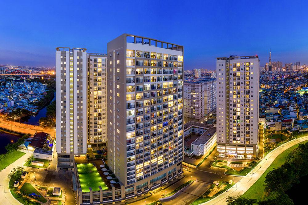 Khu căn hộ Richmond City (Q.Bình Thanh, TP.HCM) được Công ty Hưng Thịnh Incons bàn giao năm 2020