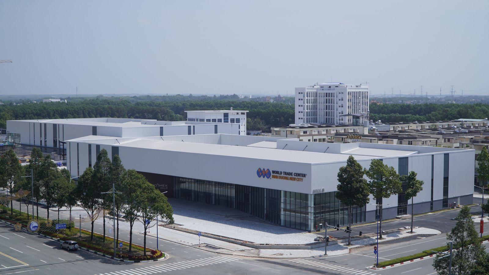 Trung tâm triễn lãm WTC Expo đã hoàn thiện, chuẩn bị đưa vào sử dụng.