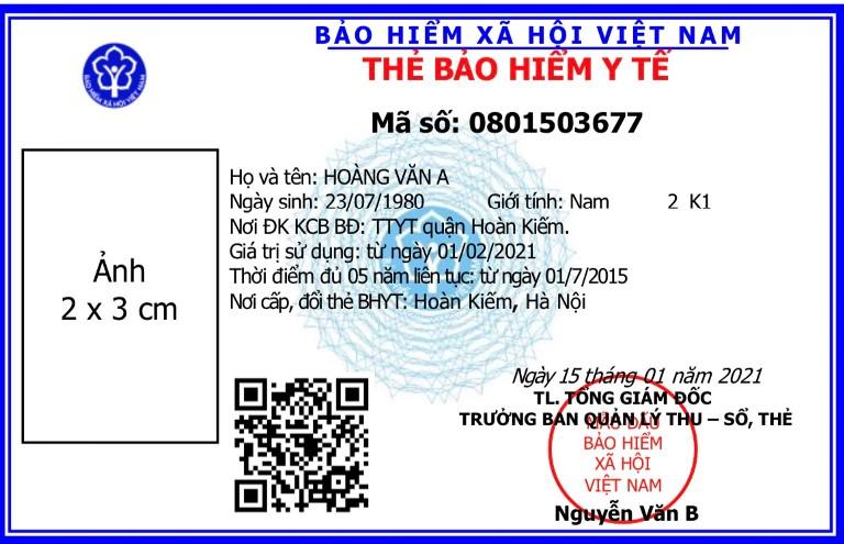 Thẻ BHYT mẫu mới sẽ được sử dụng từ ngày 1/4