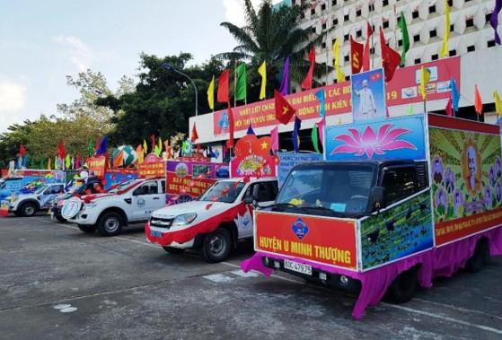Kiên Giang: Tổ chức Hội thi xe tuyên truyền lưu động về cuộc bầu cử