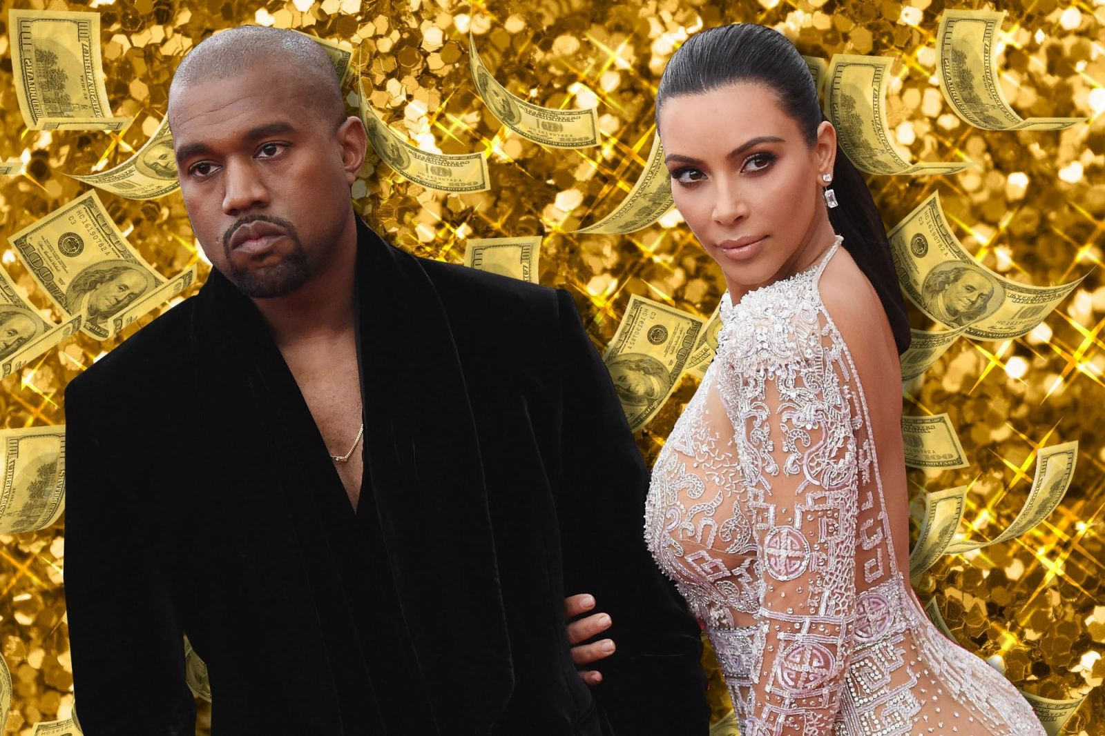 West và vợ cũ Kim Kardashian