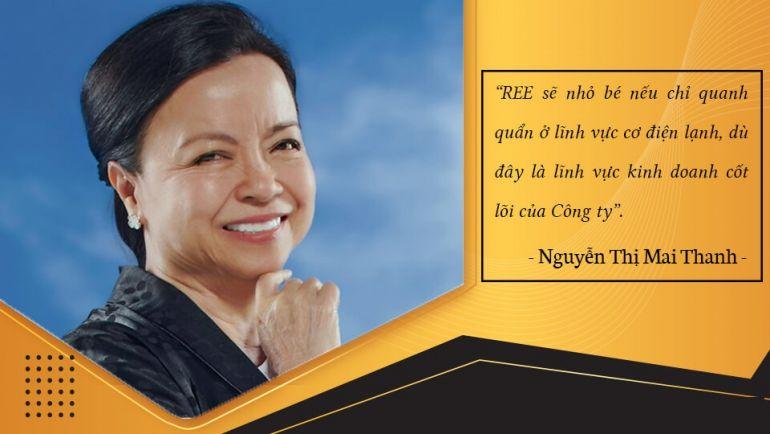 """""""Nữ tướng"""" tài ba của REE doanh nhân Nguyễn Thị Mai Thanh"""
