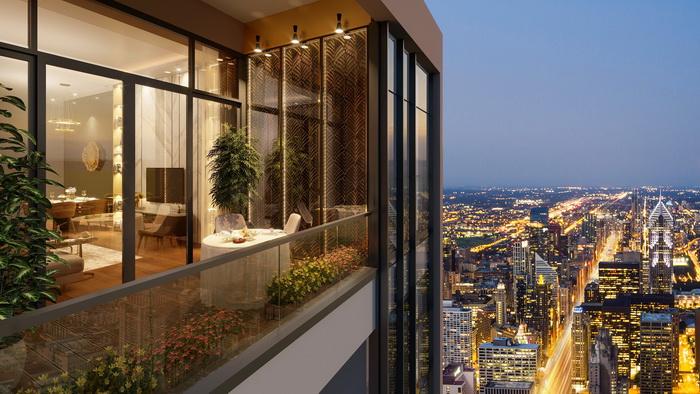 Logia của căn hộ tại BRG Diamond Residence rộng như một khu vườn thu nhỏ